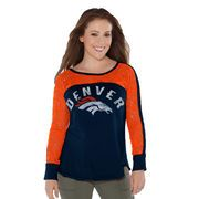 Women's Touch by Alyssa Milano Navy Denver Broncos Playoff T-Shirt