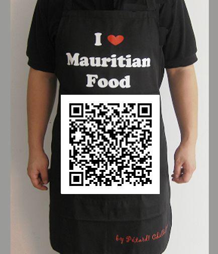 Our popular `I Love Mauritian Food` apron.