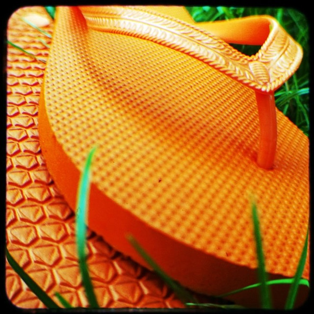 New orange flip-flops (TtV365-126) by rustman, via Flickr