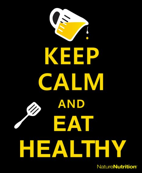 Keep Calm and Eat Healthy. #Salud