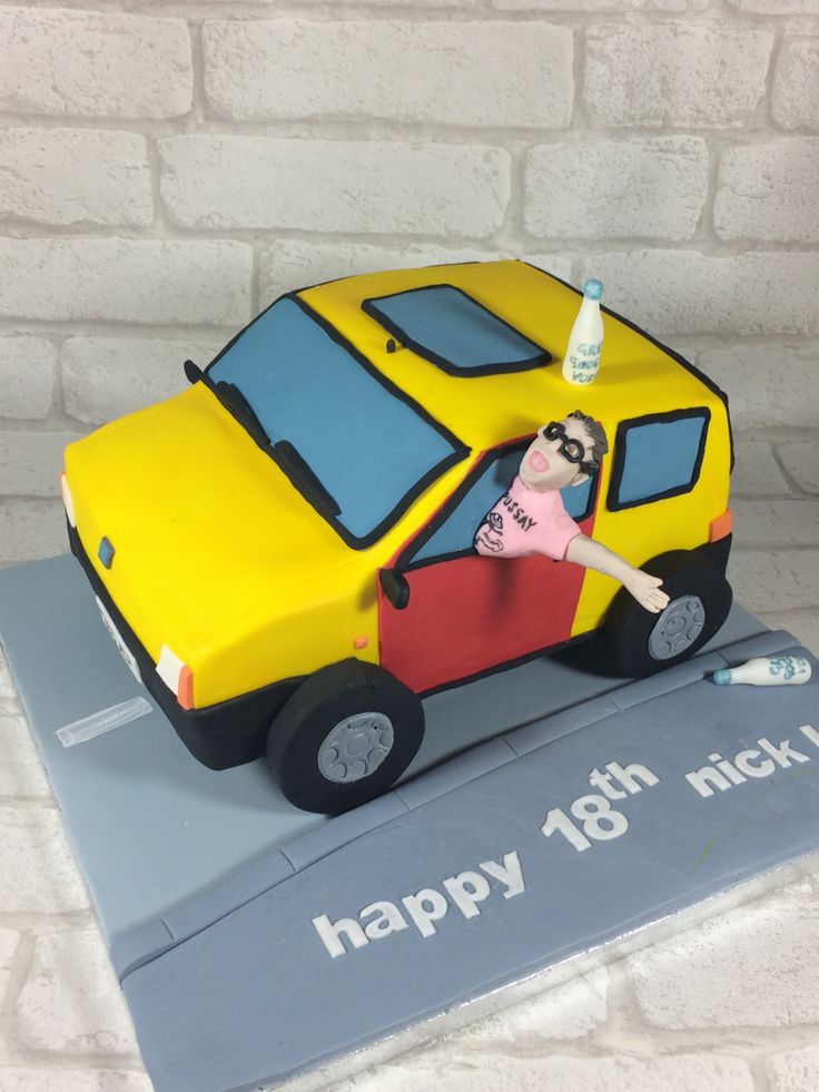 Inbetweeners car cake