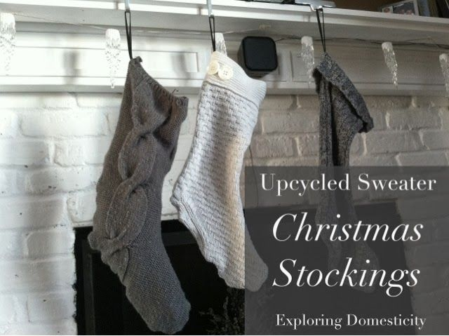 Exploring Domesticity: Upcycled Sweater Christmas Stockings