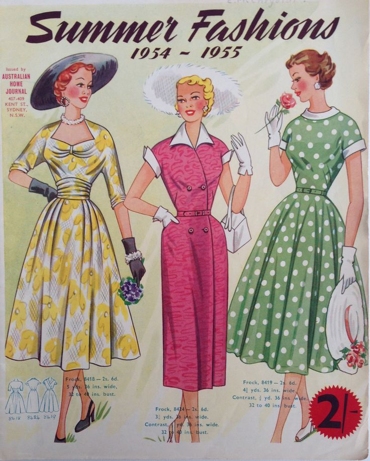 Australian Home Journal 50 S Fashion Patterns Of The
