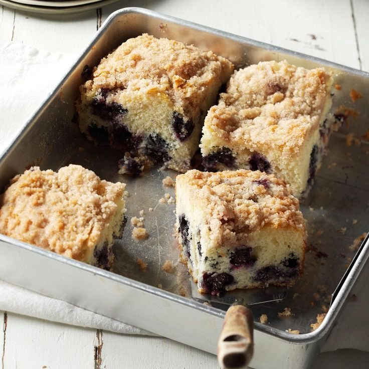 Down East Blueberry Buckle Recipe -This buckle won a contest at my daughter's college. They shipped us four lobsters, but the real prize was seeing the smile on our daughter's face. —Dianne van der Veen, Plymouth, MA