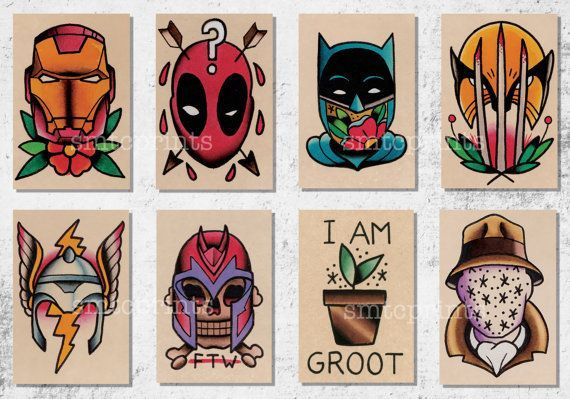 Brian Hemming prints! I want the deadpool and wolverine tattooed ...