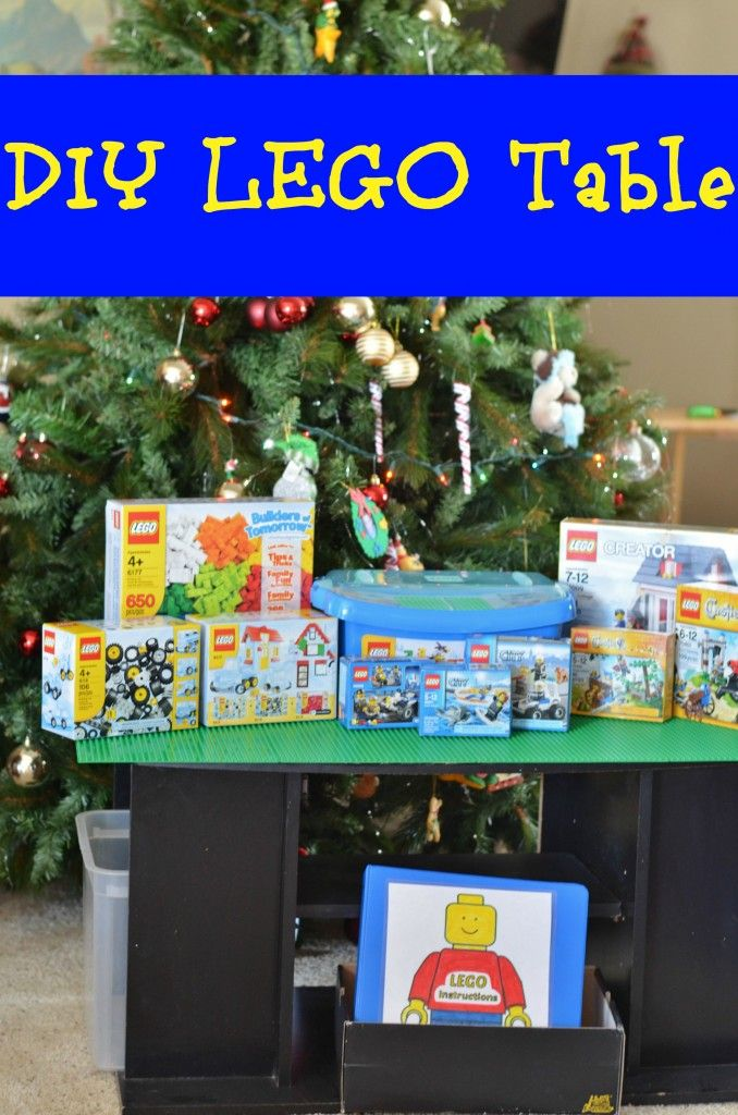 DIY LEGO TABLE and LEGO starter set