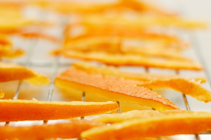 Candied orange peel  Can use any citrus peel