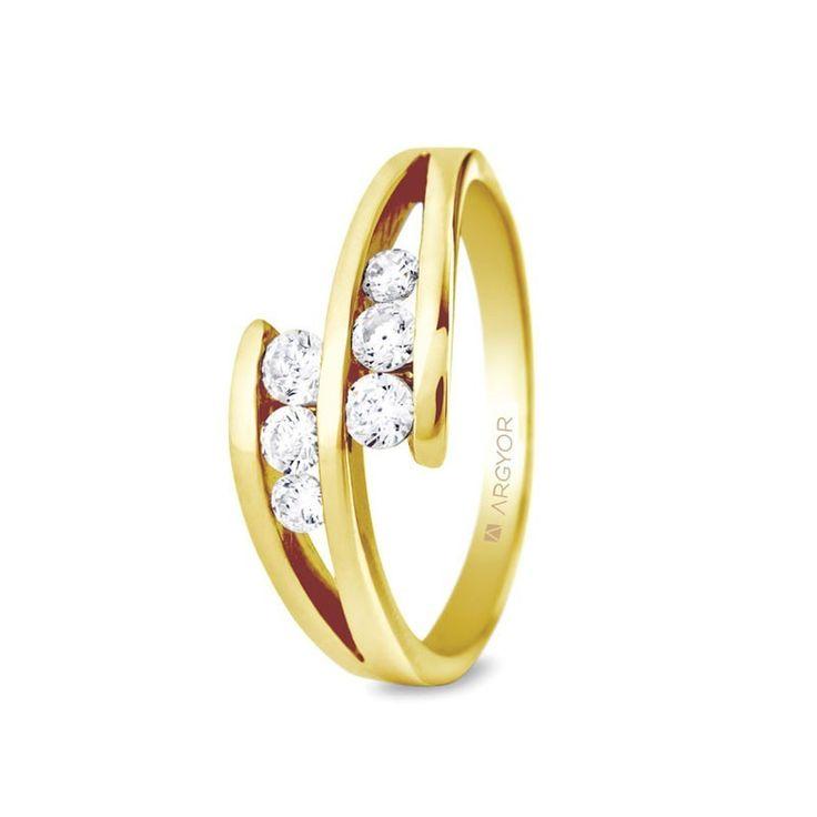 Anillo de compromiso de 6 diamantes 0,352ct 74A0036|Argyor
