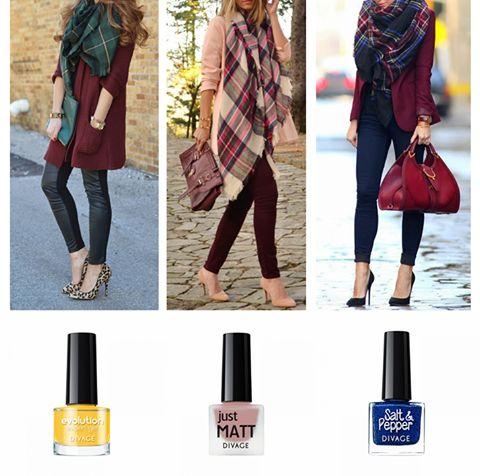 Rimedi fashion contro il freddo? Mega sciarpone in cui avvolgersi e unghiette colorate! #invernoapienocolore