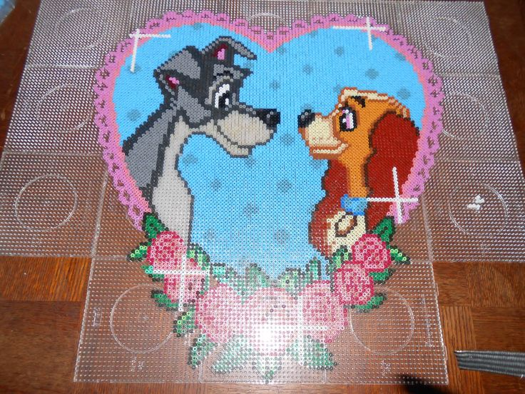 Disney Lady and the Tramp heart hama beads (18 pegboards) by swarovski - hama.dk