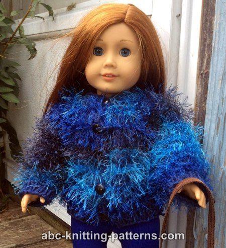 ABC Knitting Patterns - American Girl Doll Fun Fur Vintage Jacket