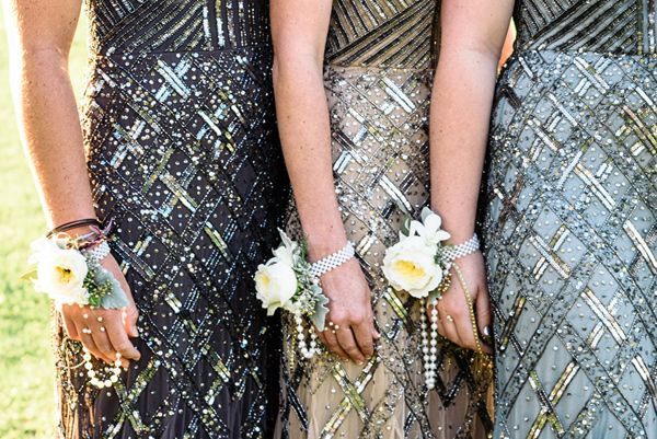 Glamorous Bridesmaids Dresses | Photography: Carla Atley Photography