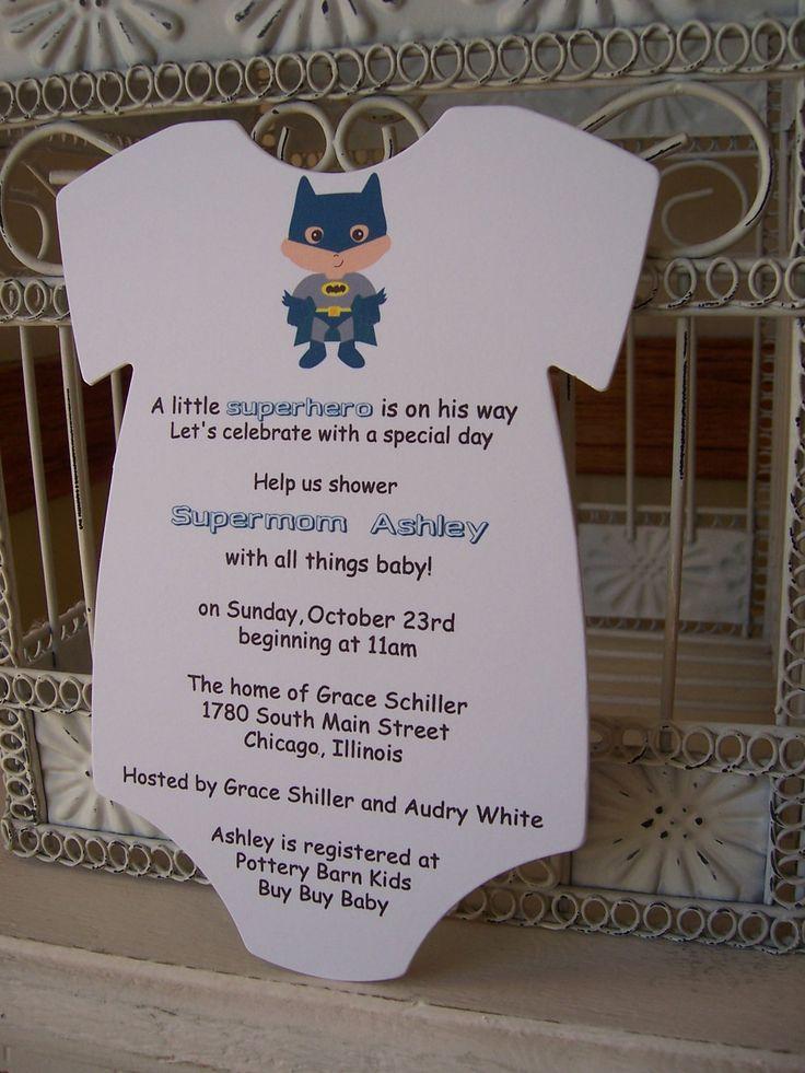 Superhero Baby Shower Invitation Custom Die