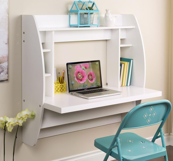 Furniture Design, The Wonderful Design Idea Also Beaiful Innovation Idea Also Whte Wall Wooden Deck Design Idea Also Beautiful Style Decoration Idea: The Amazing Design Of Best Wall Mount Desk With Interesting And Breathtaking Style Idea