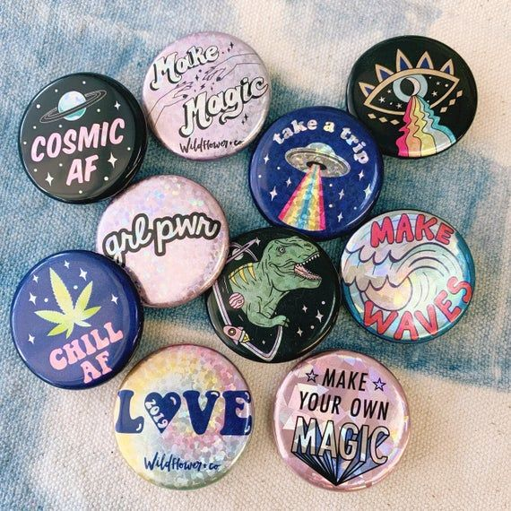 Diy Turn Any Shaped Stickers Into Reusable Resin Pins How To Make Stickers Make Your Own Buttons How To Make Resin