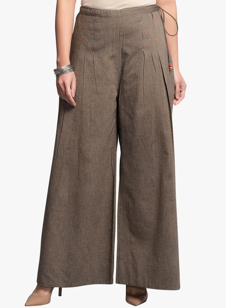 Buy Fabindia Brown Solid Palazzo for Women Online India, Best Prices, Reviews   FA050WA40HDFINDFAS