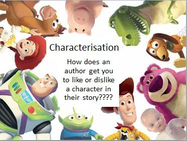 Characterisation - A powerpoint to spark discussion about characterisation and how a good author develops the understanding of a character in a story.