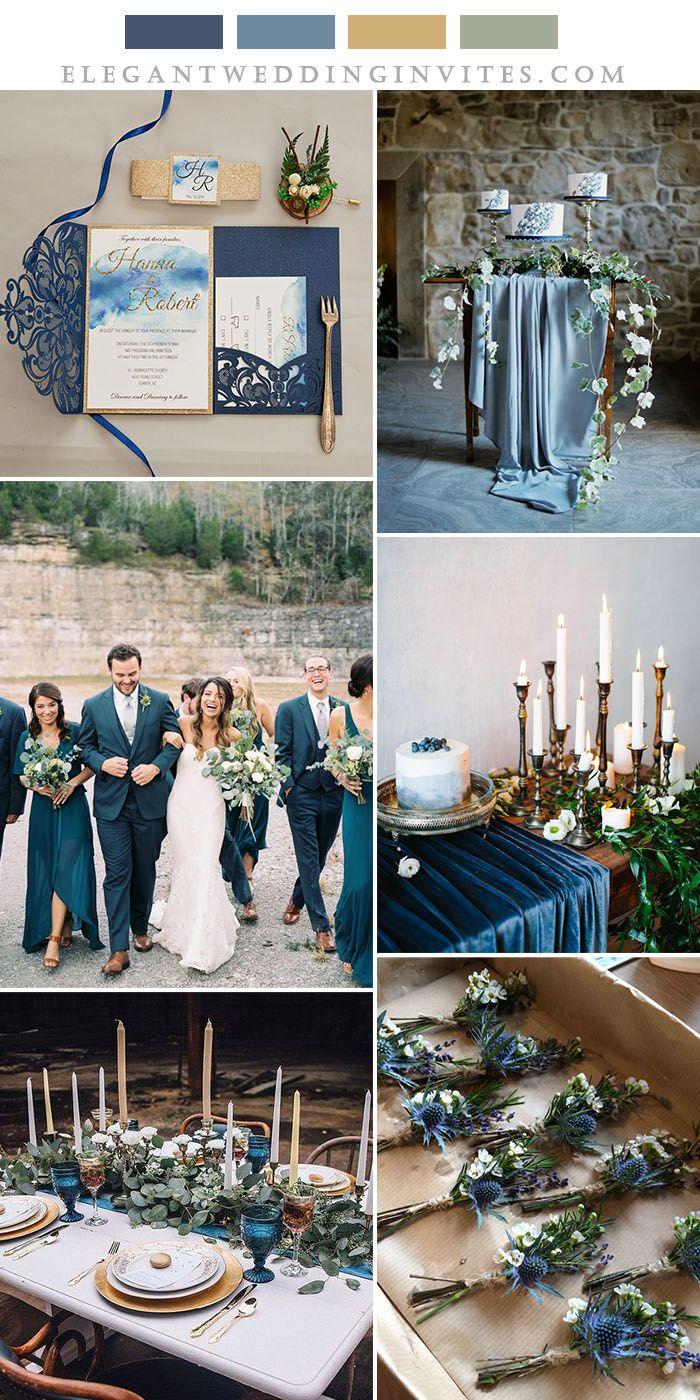 5 Pretty Wedding Colors Inspired by EWI New Tri-Folded Laser Cut Invites