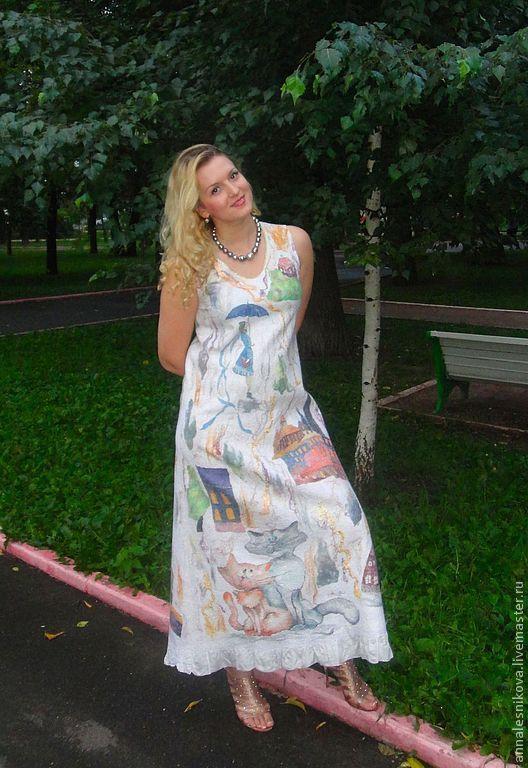 """Купить Платье """"Свадьба на крыше"""" - платье, авторское платье, нарядное платье, летнее платье"""