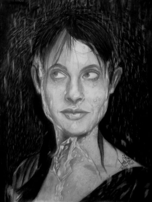 When the rain splash your body  On paper A3 Pencils: Faber Castell (hb, 2b, 5b, 8b)