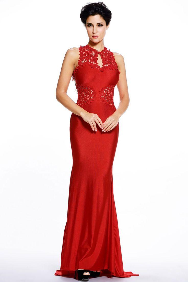 Robes De Soiree Rouge Ouvrir Retour Beaux Fleurs Maxi Robe De Mariee Pas Cher www.modebuy.com @Modebuy #Modebuy #Rouge #dress #Rouge #me