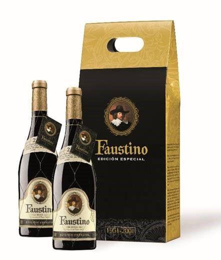 2001 Faustino Edicion Especial Rioja - 6 x 2 pack geschenkboxen - 12 flessen totaal  Beschrijving;Schoon helder sterke kersenrood ontwikkelen op baksteen-rood. Op de neus is intens met gemarkeerde lange vergrijzing hints rijp fruit en hout. Silky in de mond ronde tannine en goede zuren... Lang afwerking met aantekeningen van rijpe vruchten.Rode Reserva 100% Tempranillo18 maanden in Frans eiken vatRioja D.O.Ca.075 literVoedsel overeenkomende;Elke vorm van vlees. Het komt overeen met met…