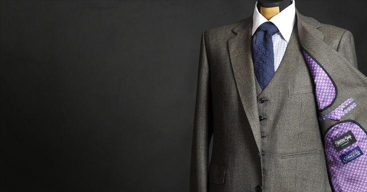 Herritage Tweed Bespoke suit with fancy lining - Made by Sebastian Hoofs