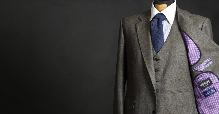 Herritage Tweed Bespoke suit with fancy lining - Made by Sebastian Hoofs