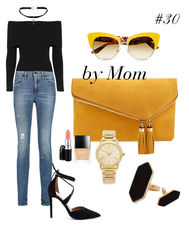 """#30"" by jovitapsutiono ❤ liked on Polyvore featuring A.L.C., dVb Victoria Beckham, Steve Madden, Yves Saint Laurent, Henri Bendel, Dolce&Gabbana, Michael Kors, Jaeger, Butter London and MAC Cosmetics"