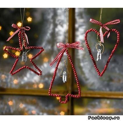 МК по созданию новогоднего настроения / игрушки для ёлки своими руками