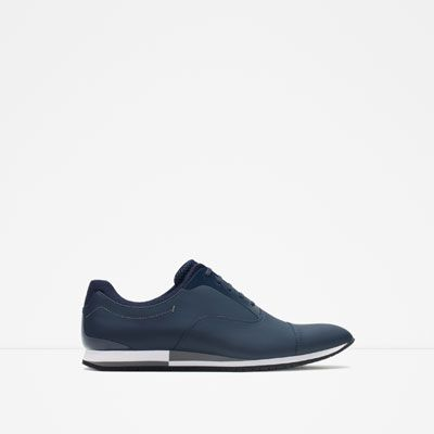 ZARA - MAN - CASUAL CONTRAST LACE-UP SHOES