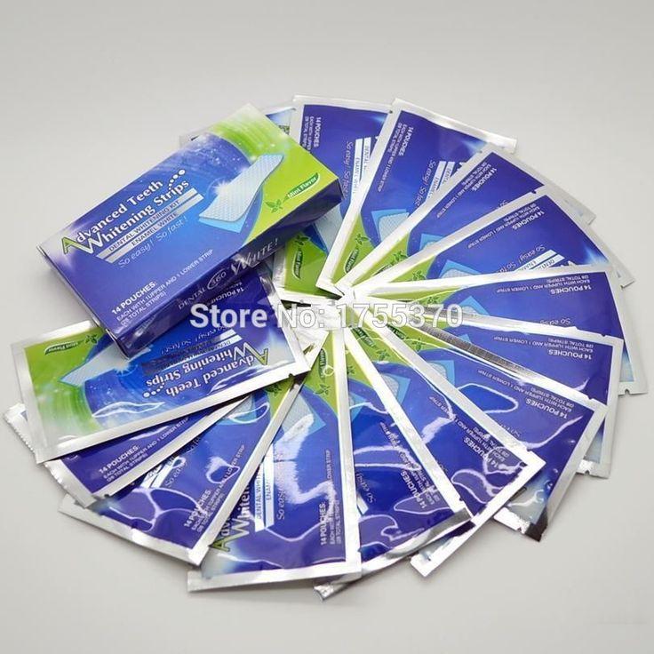 1 حقيبة 2 قطع منتجات صحة الأسنان تبييض شرائط تبييض الأسنان المهنية تبييض هلام مزدوجة الأبيض الأسنان هلام