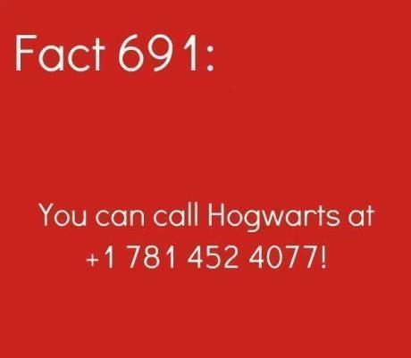 Mind Blowing Fact: Hogwarts Hotline