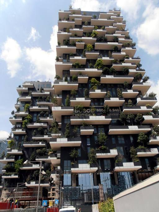 Bosco verticale milan italy ziele krajobraz pinterest - Bosco verticale ...