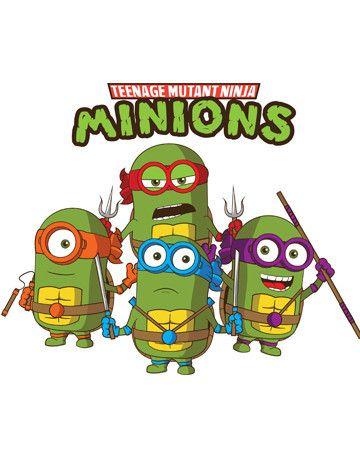 Kow-a-banana! Meee! #myloltshirts #tmnt #minion