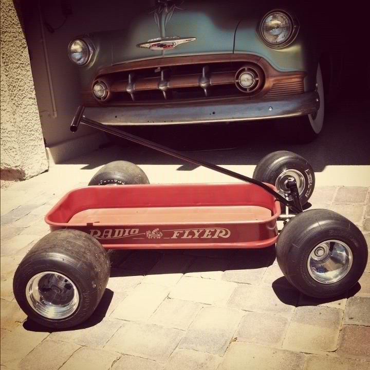 Custom Radio Flyer Lowered Aluminum Rims Racing Slicks