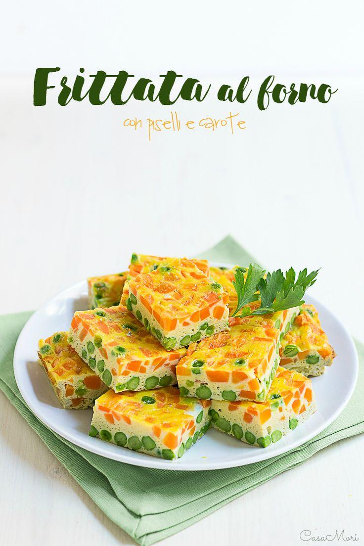 La frittata in forno con piselli e carote è un secondo piatto a base di uova estremamente semplice e veloce, coloratissimo e molto gustoso.