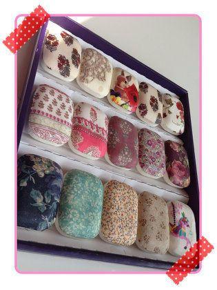 ハンドメイド:余り布のデコパージュ石鹸☆作り方付き