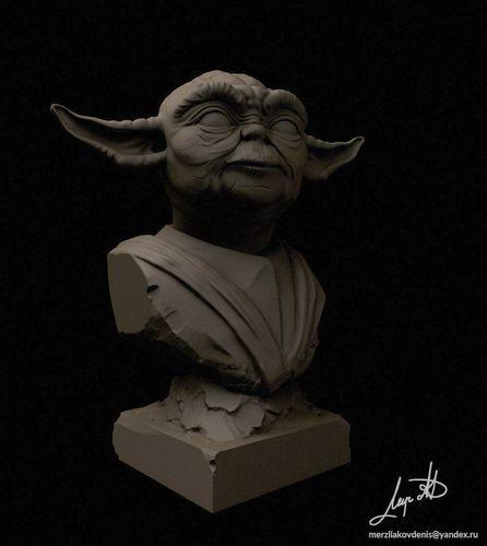 Master Yoda   3D Print Model