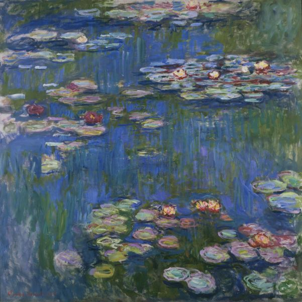 "Arguably the most famous of all Monet Paintings--""Water Lilies"" 1906, now housed at the Art Institute of Chicago"
