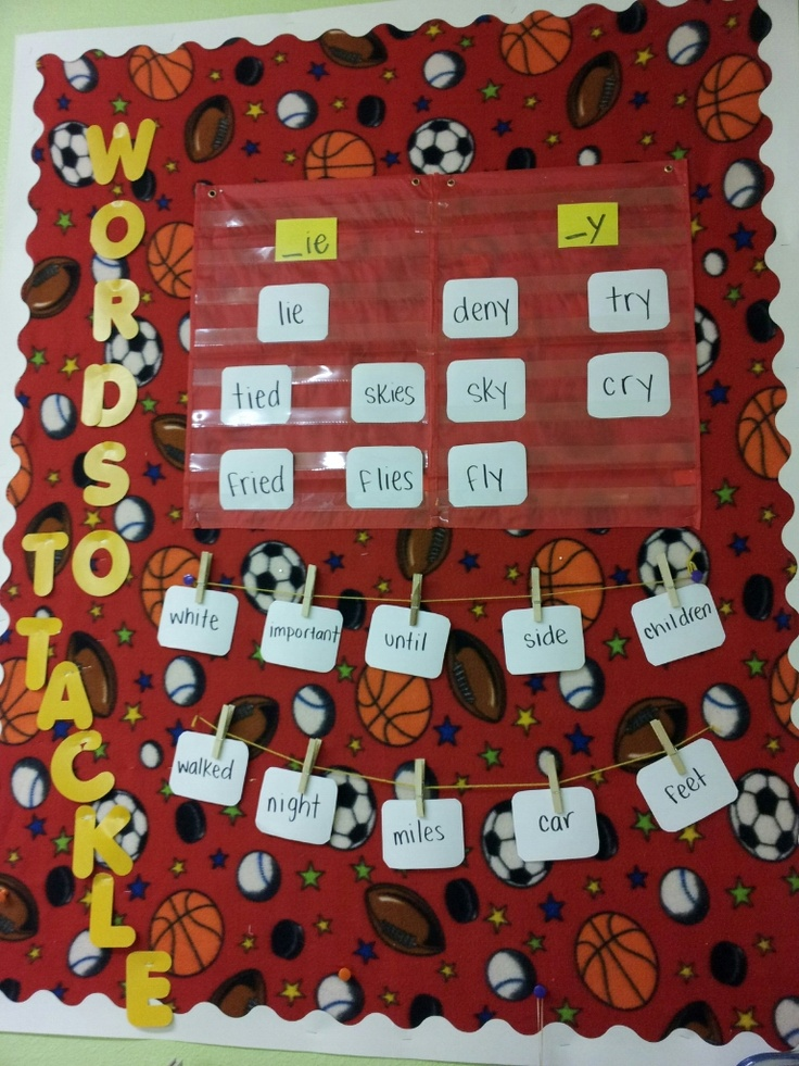 Words to Tackle, sports themed classroom - Teaching All Stars
