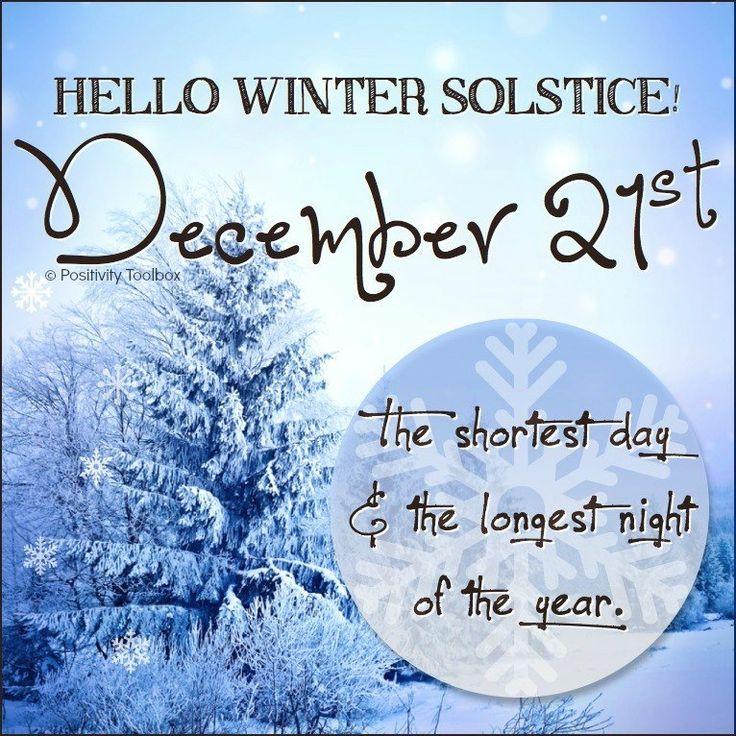 Winter Solstice- December 21