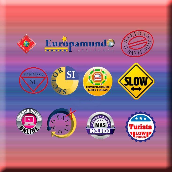 LOGOTIPOS EUROPAMUNDO ¡Reconoce todos los logotipos que encontrarás en nuestro catálogo y aprovéchate de todas las ventajas que ofrecen! ¿A qué esperas?