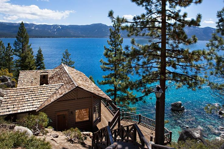Take a peek inside businessman, aviator and filmmaker Howard Hughes' former Lake Tahoe home in Crystal Bay, Nevada on HGTV.com.