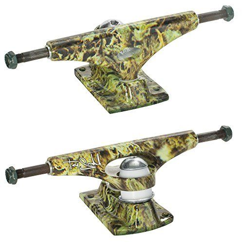 KRUX Skateboard 7.6″ FORGED Trucks SANDOVAL GREEN WEED BUDS Pair (2) 3.5 DOWNLOW: Tommy Sandoval's Professional Truck. International's Best…