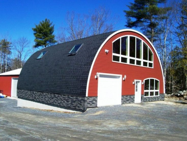347 best Quonset Hut Homes images on Pinterest | Arched cabin ... Quansethut Metal House Designs on