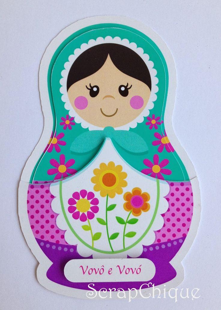 desenhos de bonecas matrioskas - Pesquisa Google