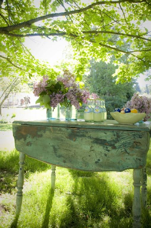 vintage garden setting