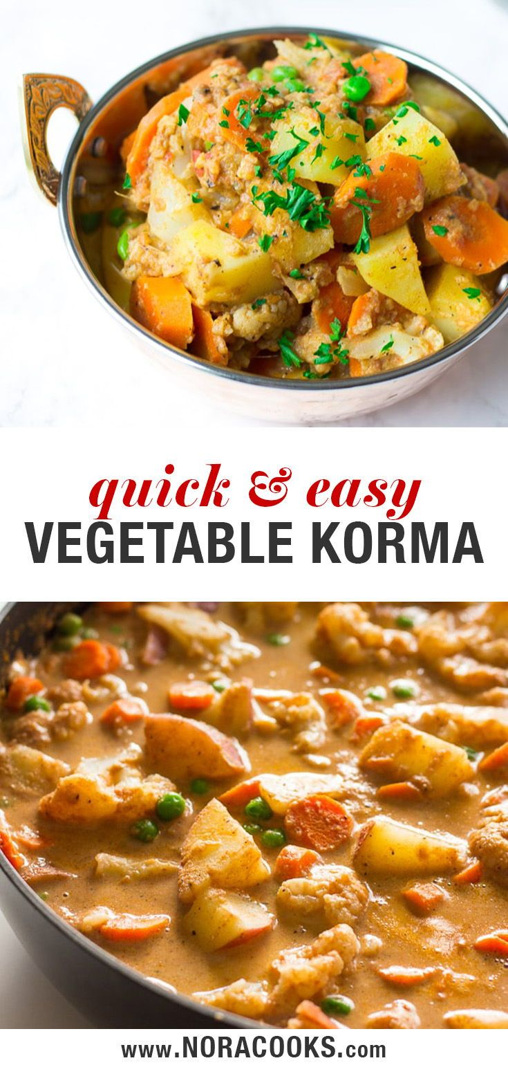Quick and Easy Indian Vegetable Korma recipe, made…