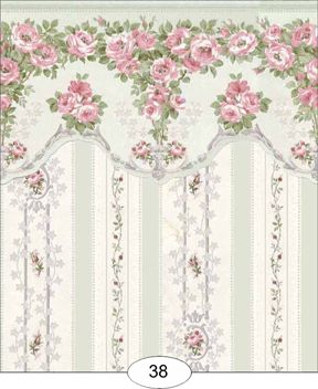 Wallpaper: Blooming Rose IB38 [IB38] - $4.00 : Miniature Dollhouses & Doll House Supplies | Earth & Tree Miniatures & Dollhouses